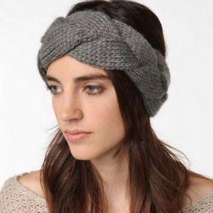 J. Crew gray braided headband (earwarmer)